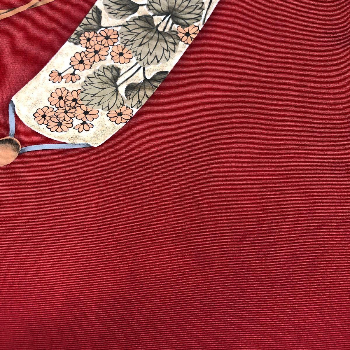 送料無料☆ウサギ柄正絹名古屋帯   和装  着物帯♪リメイク 手芸素材約巾     約_画像4