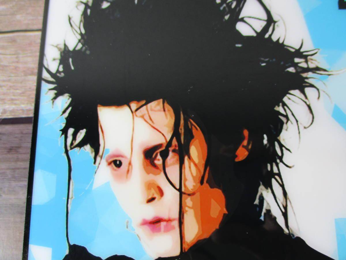 映画 シザーハンズ Scissorhands ジョニー デップ 壁掛けパネル ポップアートフレーム ファブリックパネル インテリアボード ポスター 雑貨_画像5