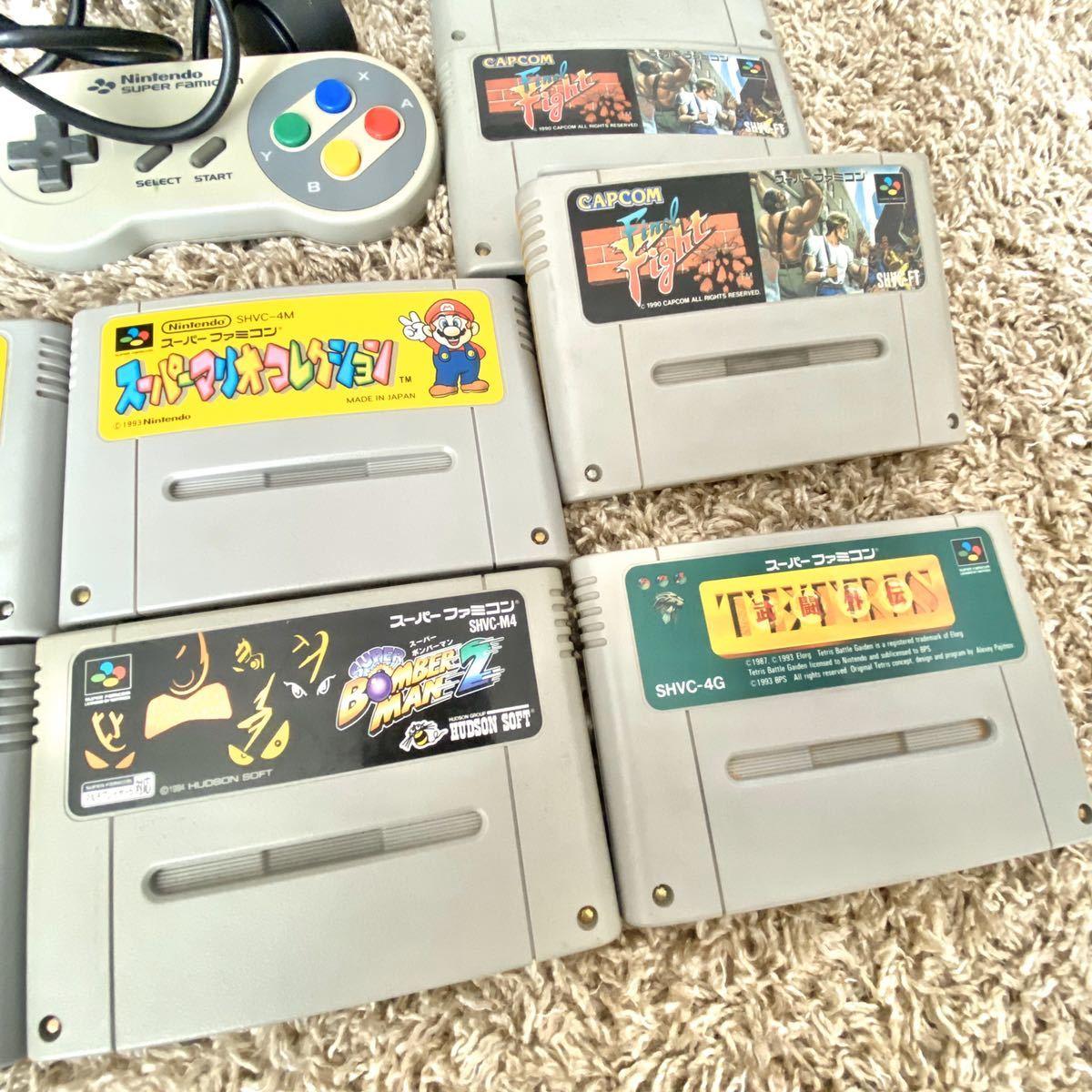 任天堂 スーパーファミコン本体 キャスターラック ソフト 12本 マリオ セット 一式 スーパーマリオコレクション ドンキーコング 超魔界村