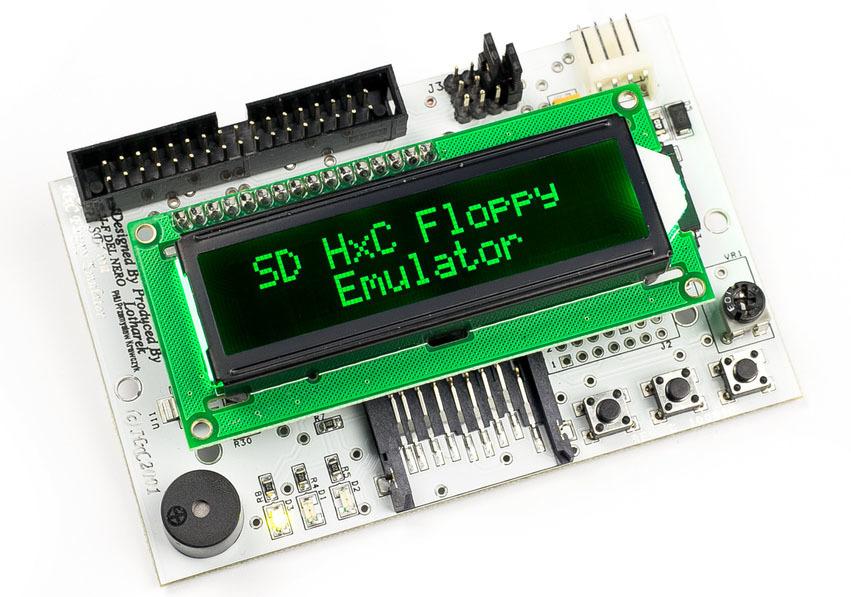 HxC Floppy Emulator 本体 新品 Rev C LCD文字グリーンタイプ 送料無料 8801 X1 turbo X68000 FM7AVなど