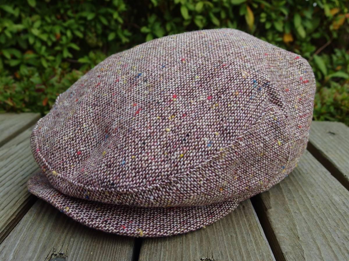 MADE IN USA New York Hat ニューヨークハット クラシカル ビンテージデザイン ツイード ウール ハンチング 帽子 20'S 30'S 40'S 50'S_画像1