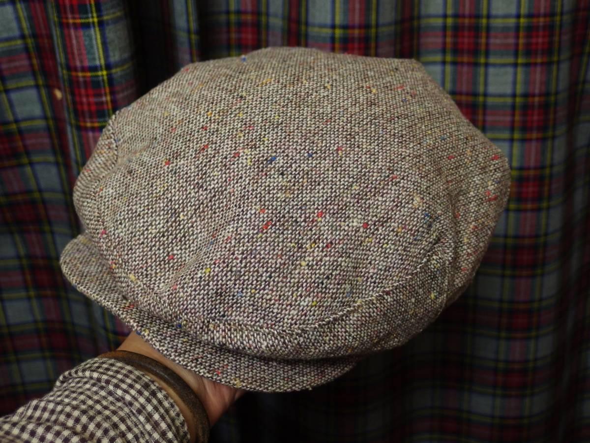 MADE IN USA New York Hat ニューヨークハット クラシカル ビンテージデザイン ツイード ウール ハンチング 帽子 20'S 30'S 40'S 50'S_画像3