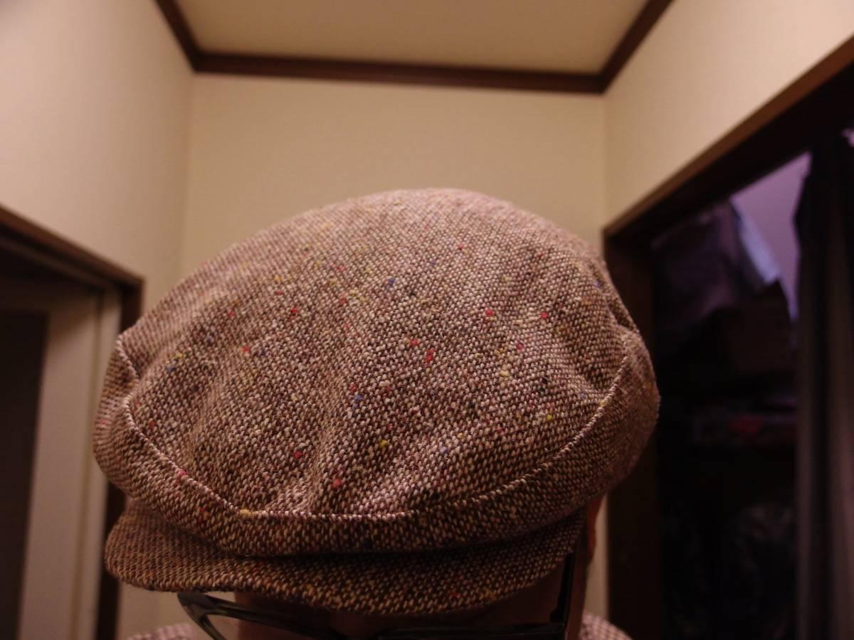 MADE IN USA New York Hat ニューヨークハット クラシカル ビンテージデザイン ツイード ウール ハンチング 帽子 20'S 30'S 40'S 50'S_画像4