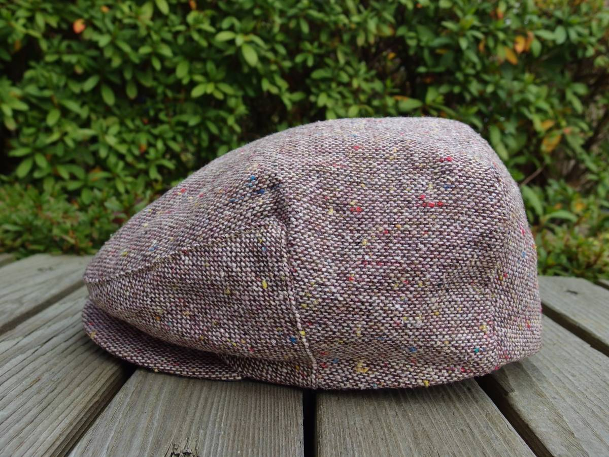 MADE IN USA New York Hat ニューヨークハット クラシカル ビンテージデザイン ツイード ウール ハンチング 帽子 20'S 30'S 40'S 50'S_画像6