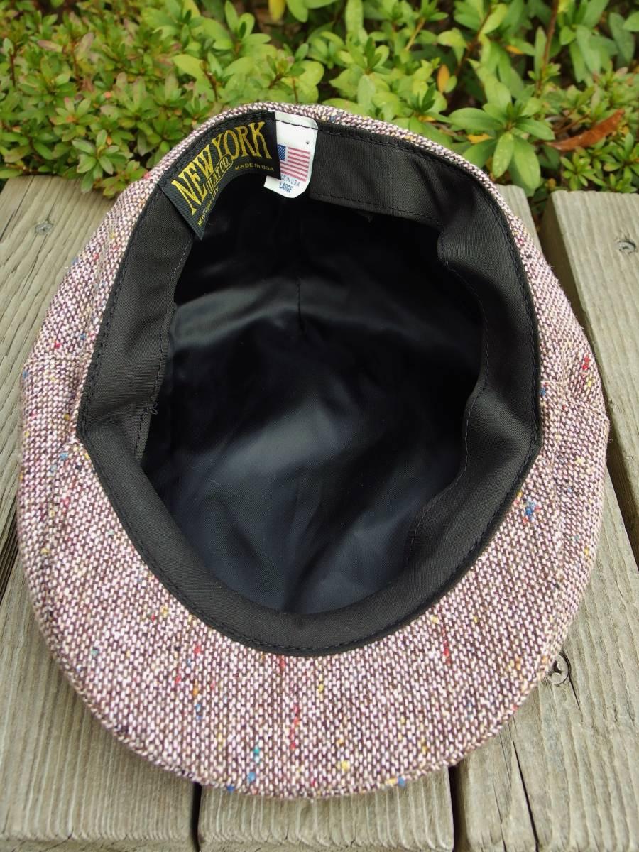 MADE IN USA New York Hat ニューヨークハット クラシカル ビンテージデザイン ツイード ウール ハンチング 帽子 20'S 30'S 40'S 50'S_画像9