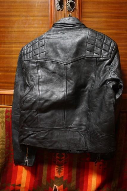 イギリス製 シープスキン 70s ~ ビンテージ UK ロンジャン レザー ライダース ジャケット ■ ■ ■ ルイスレザー 666 PUNK 40s 50s Schott_画像3