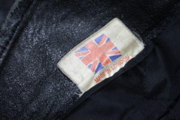 イギリス製 シープスキン 70s ~ ビンテージ UK ロンジャン レザー ライダース ジャケット ■ ■ ■ ルイスレザー 666 PUNK 40s 50s Schott_画像5