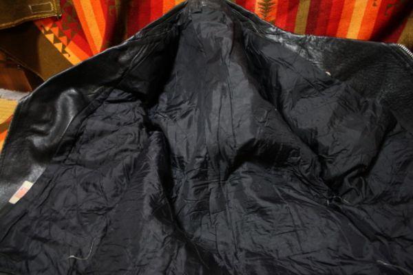 イギリス製 シープスキン 70s ~ ビンテージ UK ロンジャン レザー ライダース ジャケット ■ ■ ■ ルイスレザー 666 PUNK 40s 50s Schott_画像4