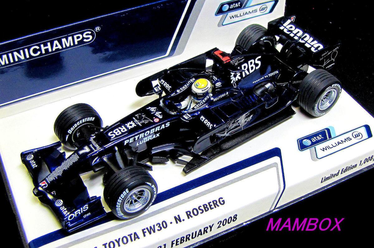 【フリマ】PM☆1/43 400080207 ウィリアムストヨタ FW30 2008バルセロナ#7 限定1008台_画像1