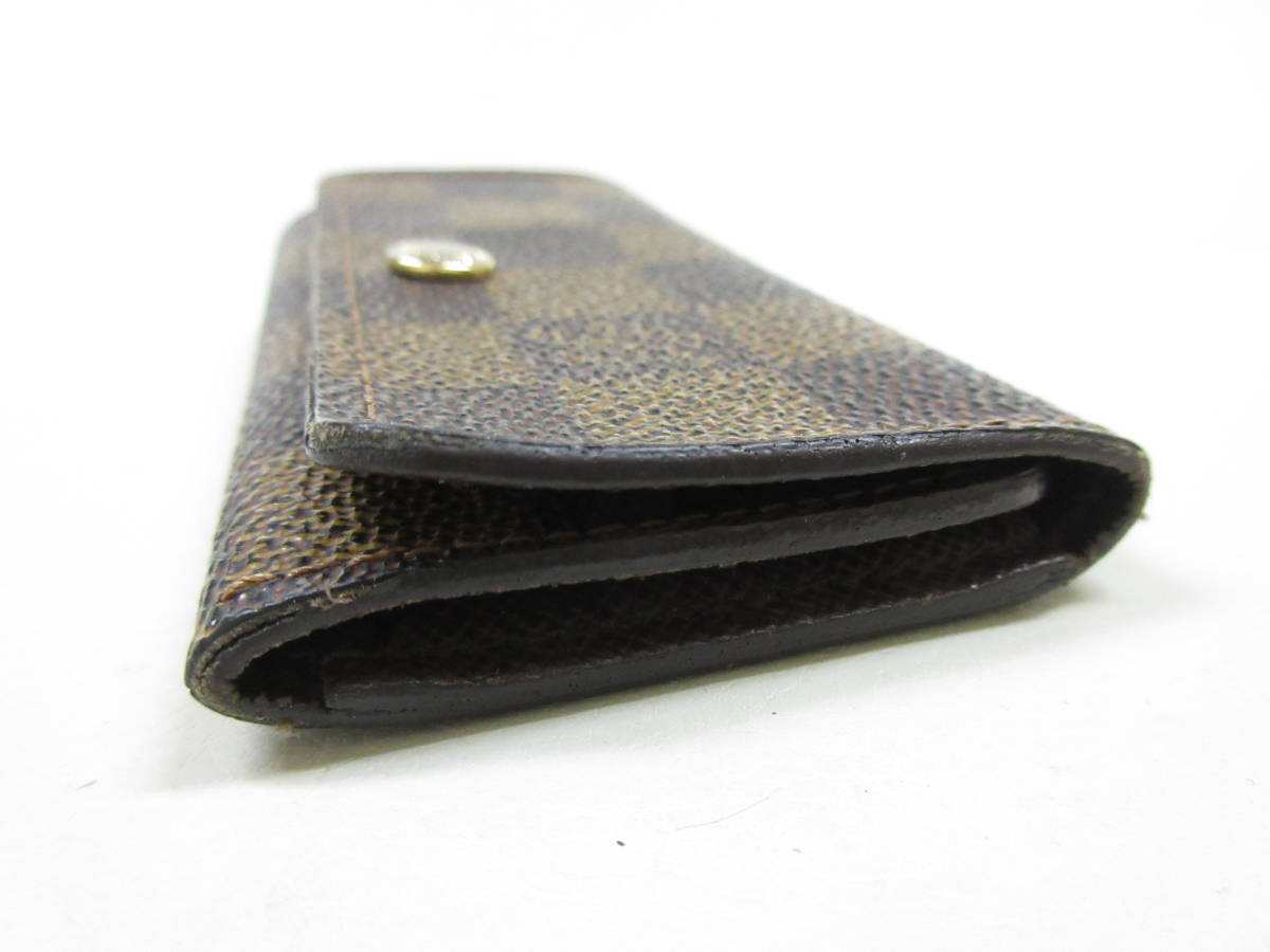 6214◆LOUIS VUITTON ルイヴィトン ダミエ 4連キーケース N62630 ミュルティクレ4 MADE IN FRANCE used中古_画像3