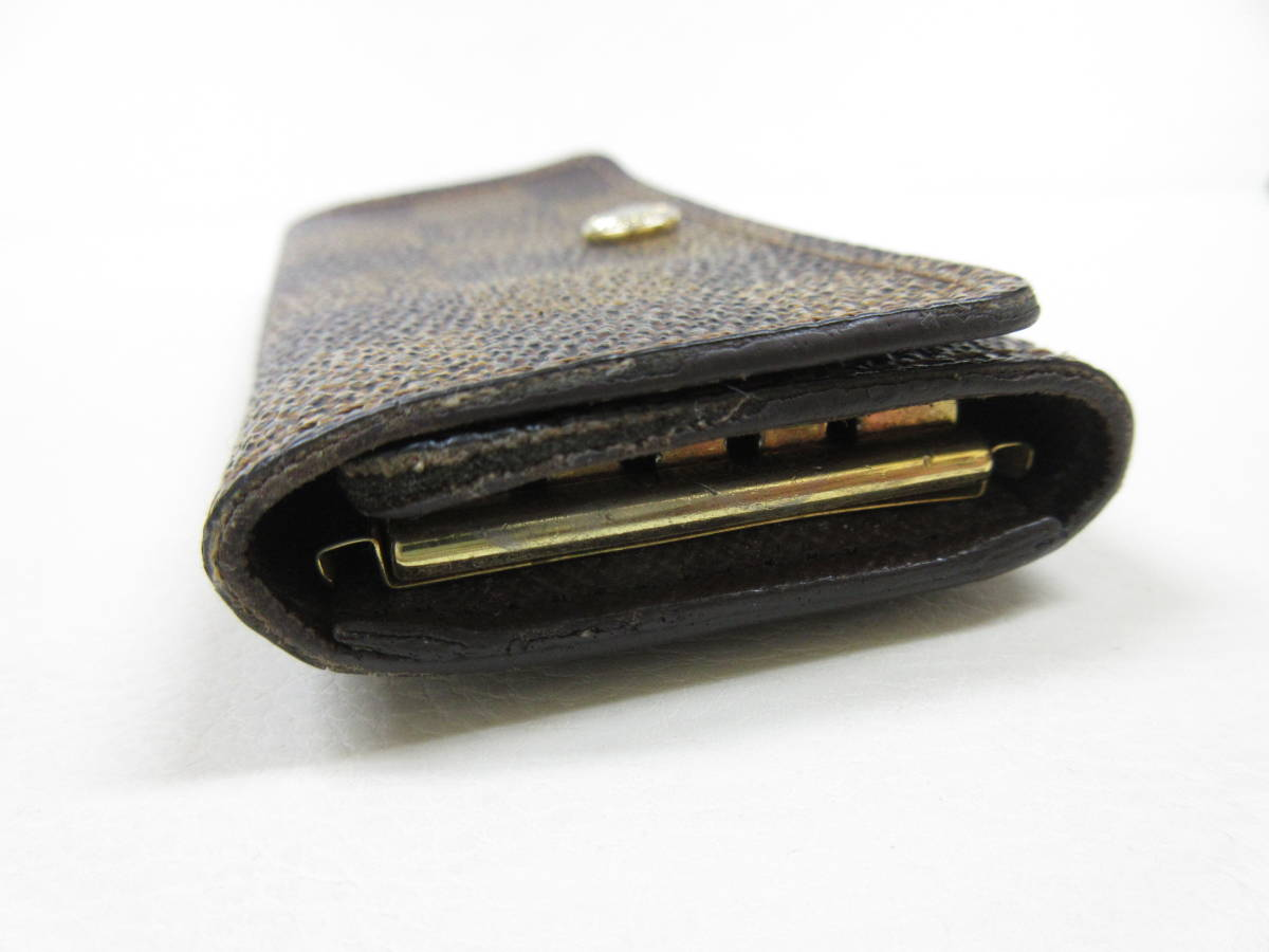 6214◆LOUIS VUITTON ルイヴィトン ダミエ 4連キーケース N62630 ミュルティクレ4 MADE IN FRANCE used中古_画像4