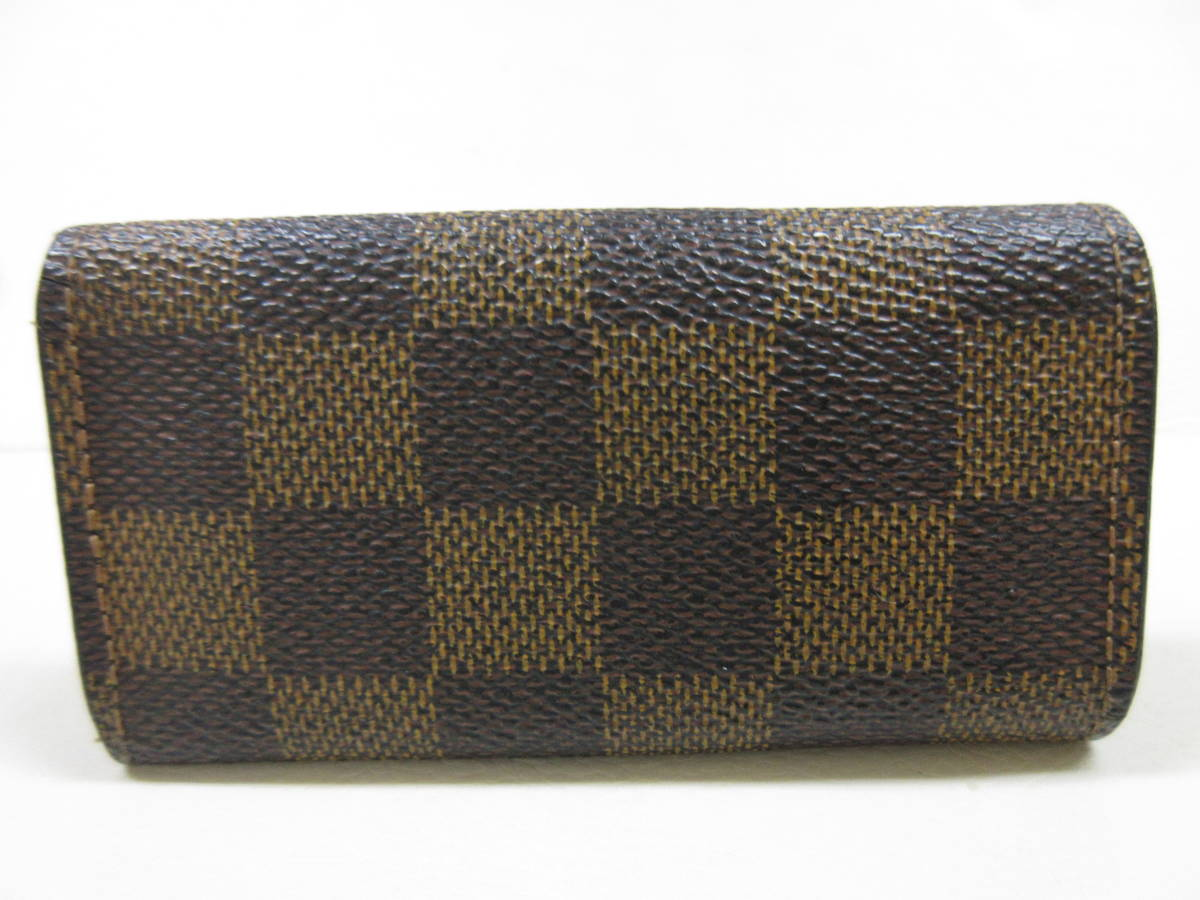 6214◆LOUIS VUITTON ルイヴィトン ダミエ 4連キーケース N62630 ミュルティクレ4 MADE IN FRANCE used中古_画像2