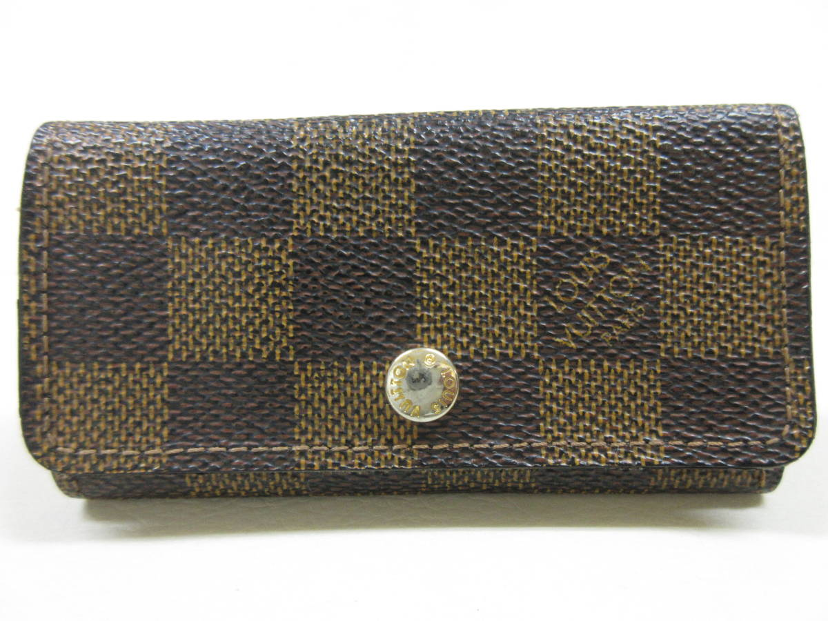 6214◆LOUIS VUITTON ルイヴィトン ダミエ 4連キーケース N62630 ミュルティクレ4 MADE IN FRANCE used中古_画像1