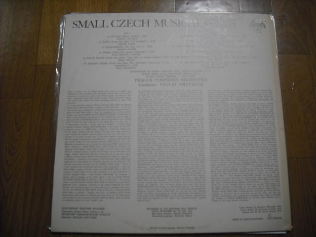 チェコSUPRAPHON1 10 1429 スメターチェク指揮/SMALL CZECH MUSICAL GEMS 青小字盤_画像2