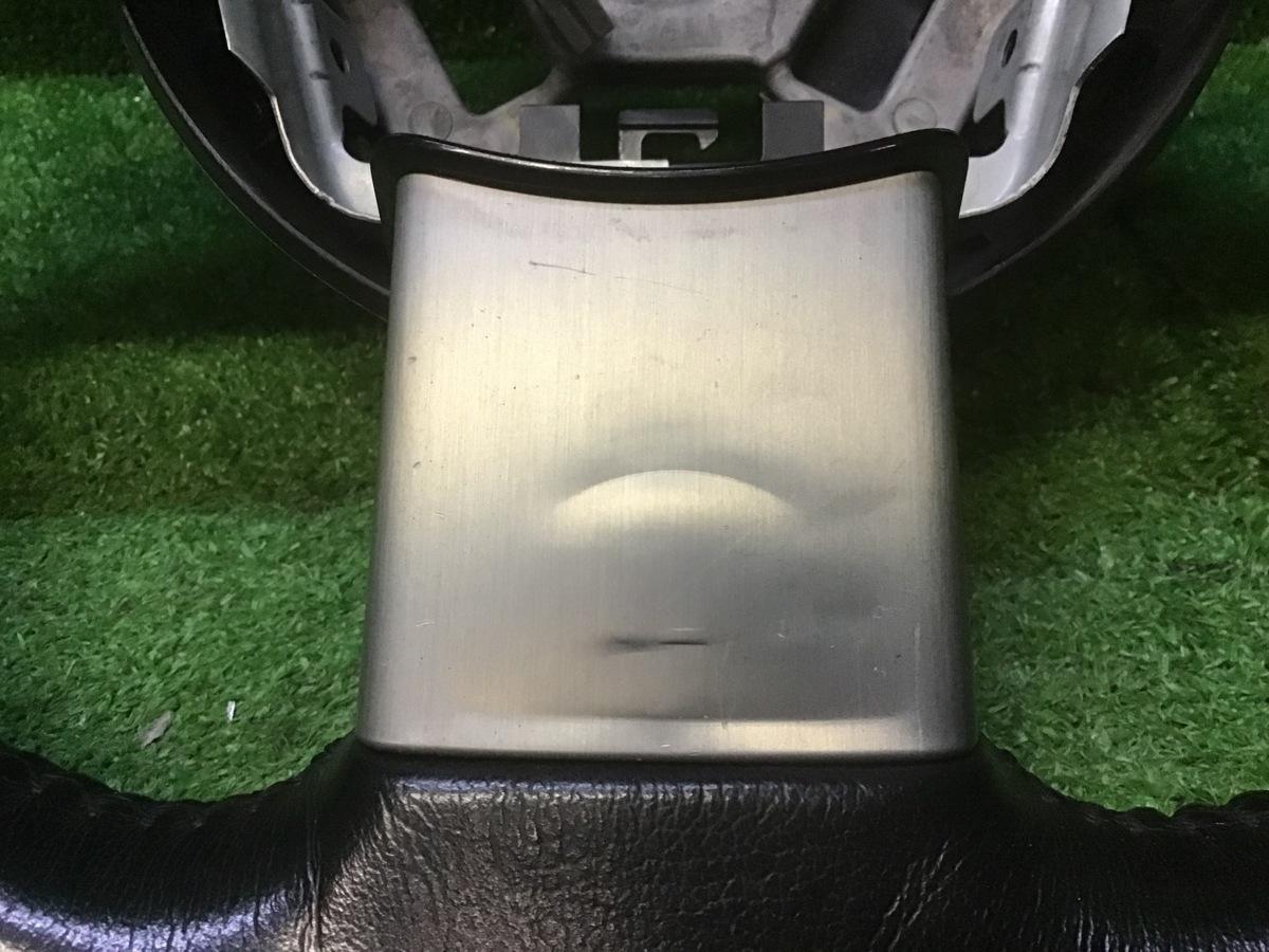 【送料無料】TZ50 ムラーノ 純正 革巻き ハンドル ステアリング スイッチ付_画像4