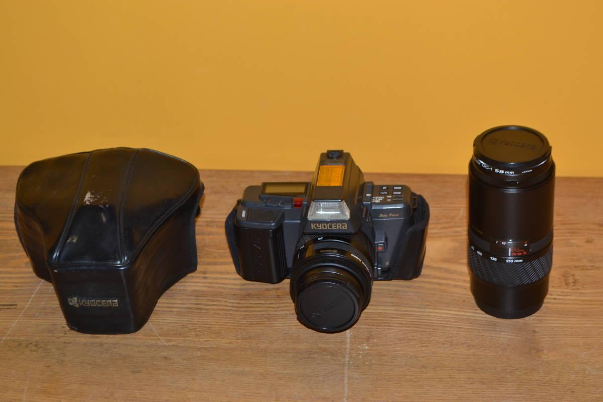 A◎KYOSERA 京セラ オートフォーカス 一眼レフカメラ 230-AF/レンズ AF 70-210㎜ 動作未確認のためジャンク扱い_画像1