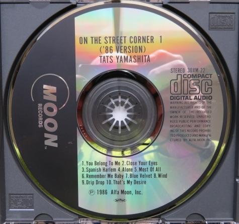 CD★山下 達郎(やました たつろう)■『ON THE STREET CORNER 1 ('86 VERSION)』(オン・ザ・ストリート・コーナー ワン 86バージョン)_画像3