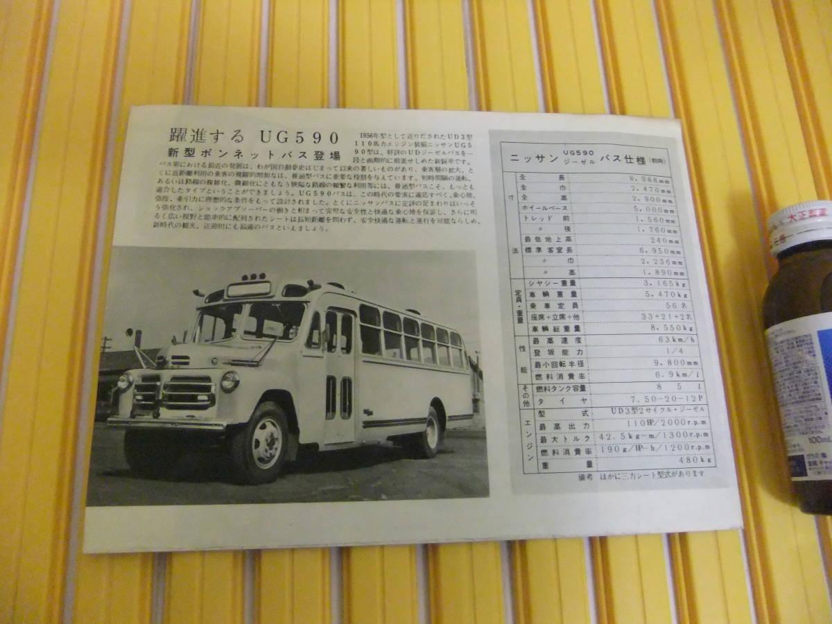 超希少 ニッサン バス トラック 昭和レトロ カタログ パンフ _画像2