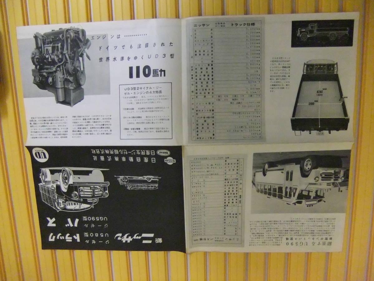 超希少 ニッサン バス トラック 昭和レトロ カタログ パンフ _画像3