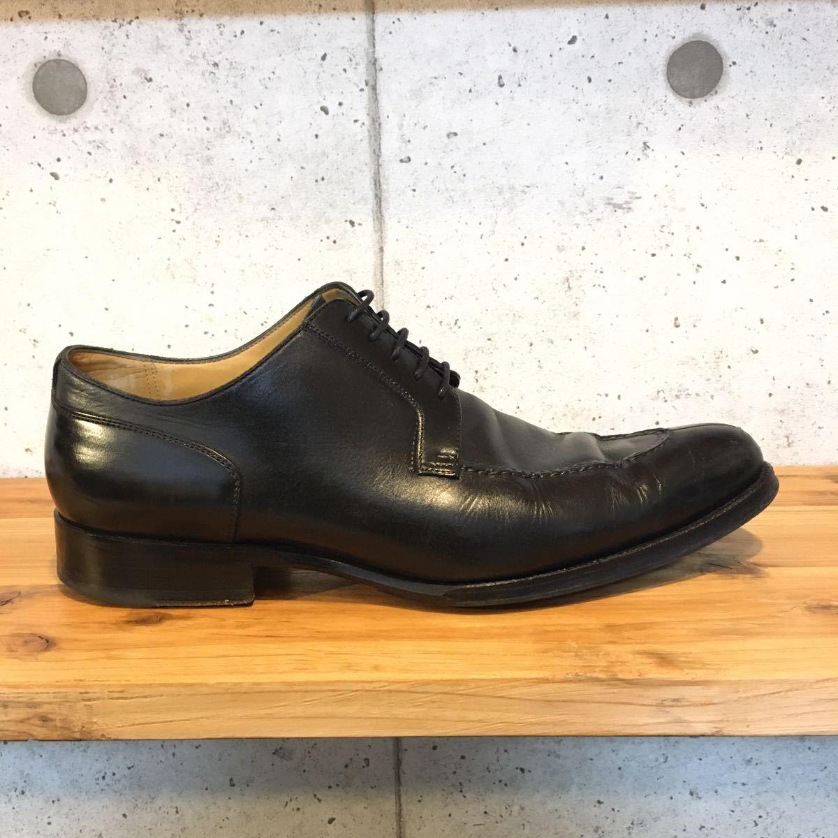 JOHNSTON&MURPHY ジョンストン&マーフィー 革靴 ビジネスシューズ 黒 本革 レザーシューズ ドレスシューズ ビブラムソール vibram_画像3