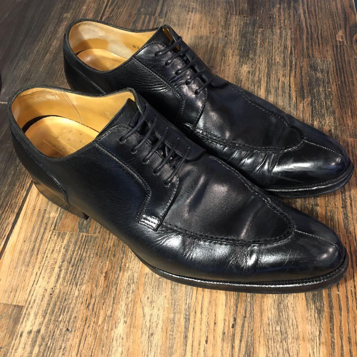 JOHNSTON&MURPHY ジョンストン&マーフィー 革靴 ビジネスシューズ 黒 本革 レザーシューズ ドレスシューズ ビブラムソール vibram_画像1