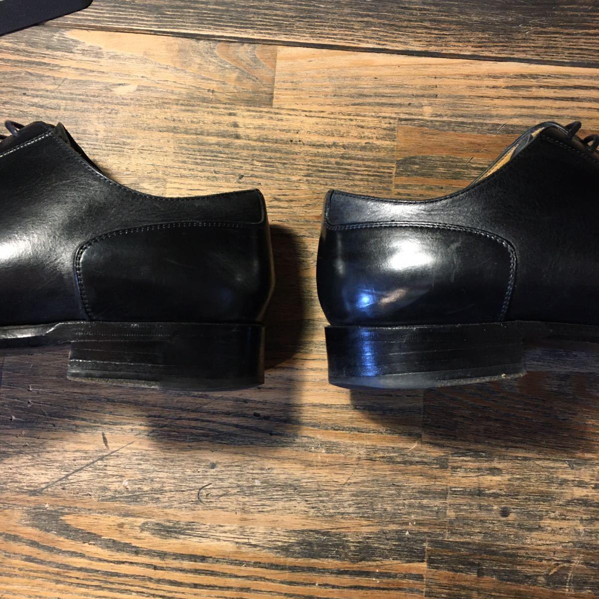 JOHNSTON&MURPHY ジョンストン&マーフィー 革靴 ビジネスシューズ 黒 本革 レザーシューズ ドレスシューズ ビブラムソール vibram_画像6