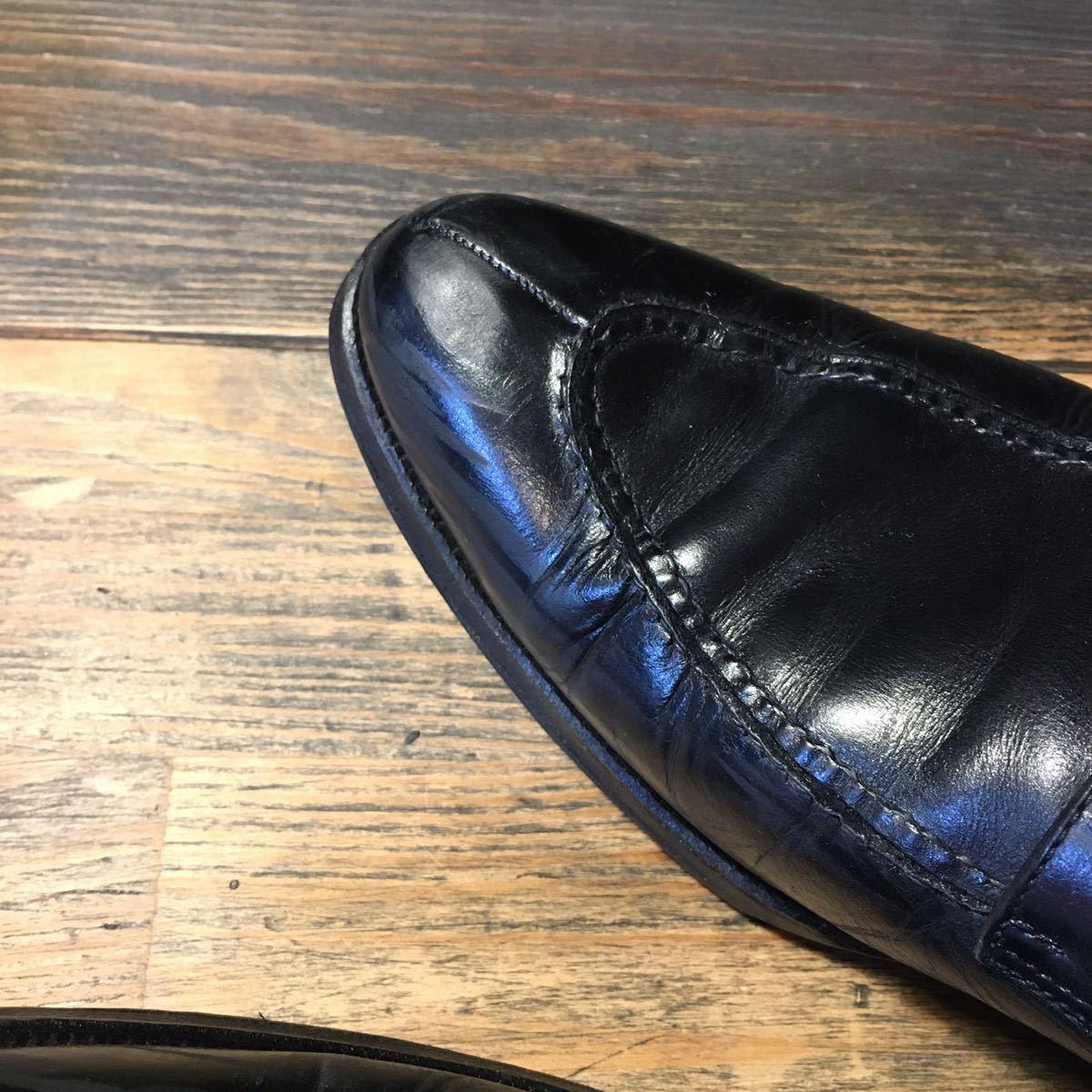 JOHNSTON&MURPHY ジョンストン&マーフィー 革靴 ビジネスシューズ 黒 本革 レザーシューズ ドレスシューズ ビブラムソール vibram_画像4