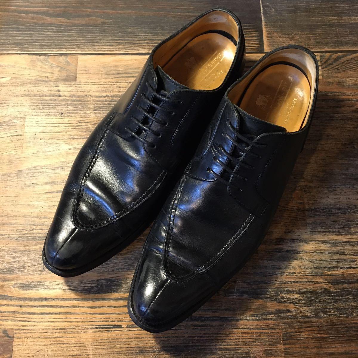 JOHNSTON&MURPHY ジョンストン&マーフィー 革靴 ビジネスシューズ 黒 本革 レザーシューズ ドレスシューズ ビブラムソール vibram_画像2