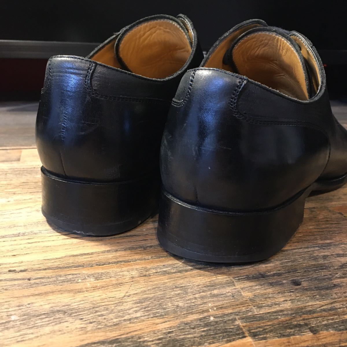 JOHNSTON&MURPHY ジョンストン&マーフィー 革靴 ビジネスシューズ 黒 本革 レザーシューズ ドレスシューズ ビブラムソール vibram_画像8