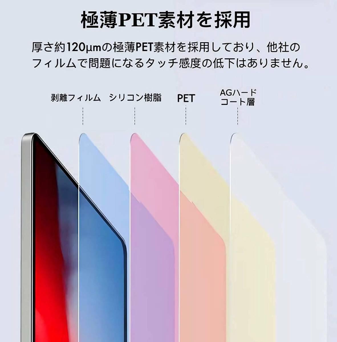 iPad Pro 12.9 2017モデル用 ペーパーライク フィルム 紙のような描き心地 反射低減 非光沢 アンチグレア ペン先磨耗防止 保護フィルム_画像6