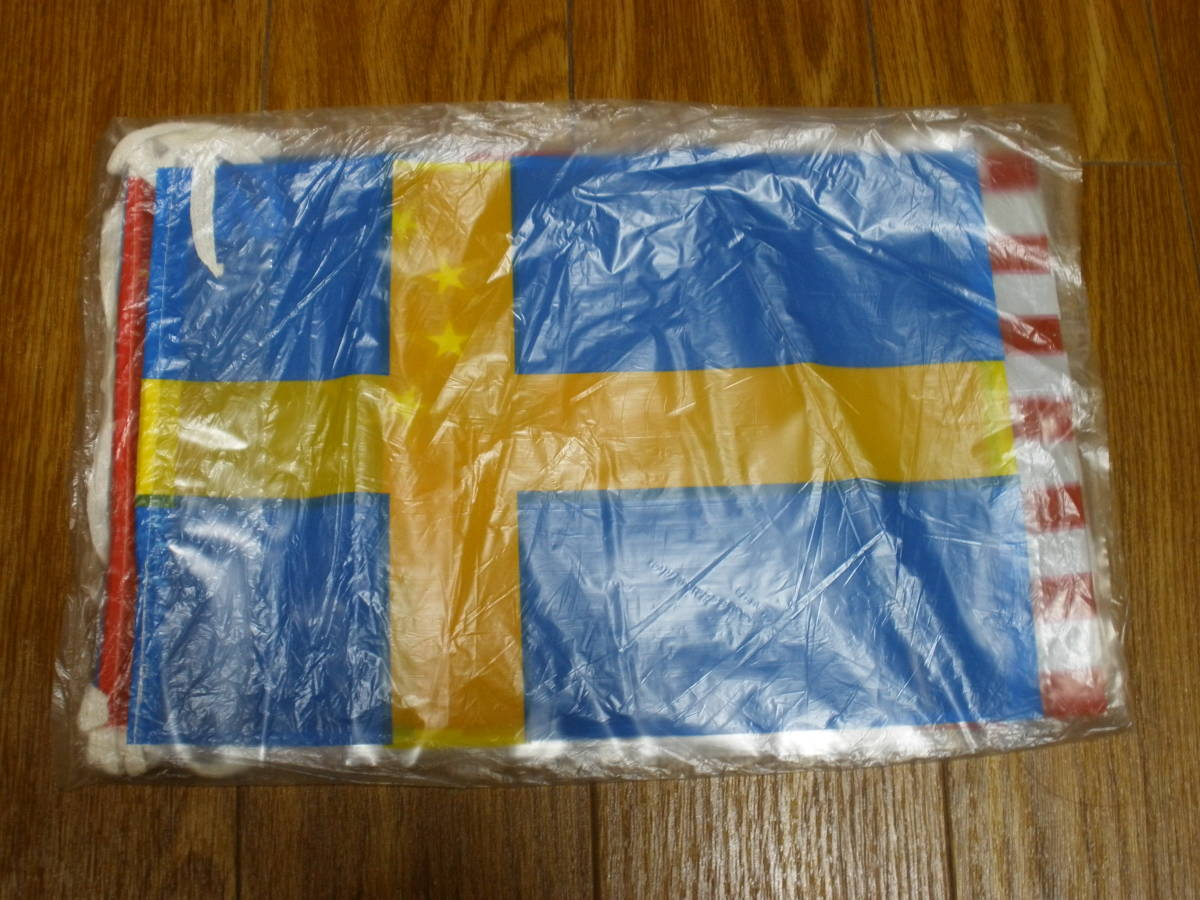 送料無料 未使用品 倉庫品 パーティー用 フラッグ 飾り付け 万国旗 7ヶ国 9個セット デコレーション _画像4