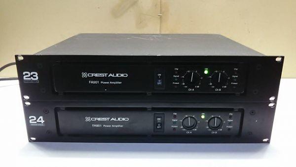 【1円スタート!】CREST AUDIO パワーアンプ FA901 2台セット 音響機器 動作良好 ハ0867