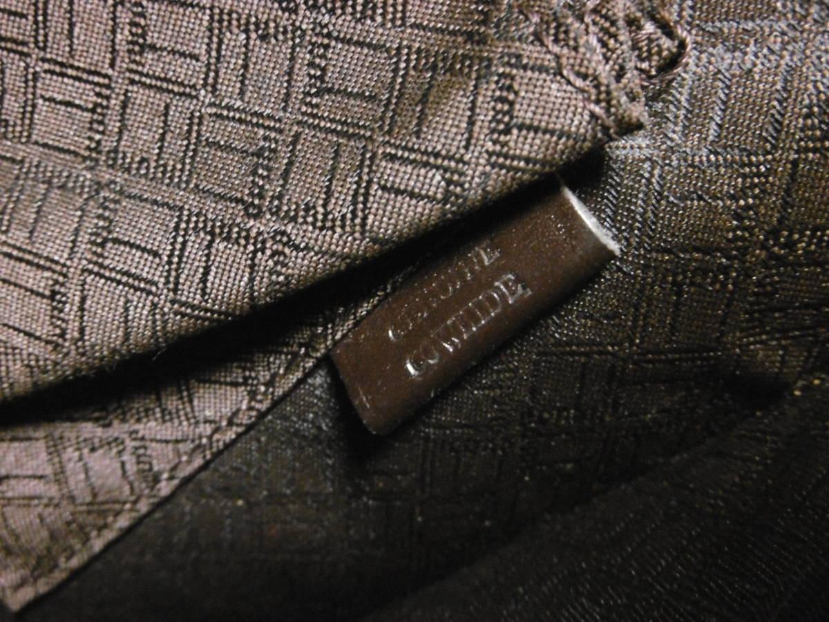 dunhill ダンヒル レザーブリーフケース ビジネスバッグ 書類カバン スリム ダークブラウン ITALY製 ギャランティーカード付_画像5