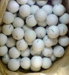 何とゴルフボール驚愕安で500球買える!使い捨ても得策!経済を追求し技量向上を!)山林池沼地を私有する方や私設練習場などの所有者にも最適!_使い捨てボールの真骨頂