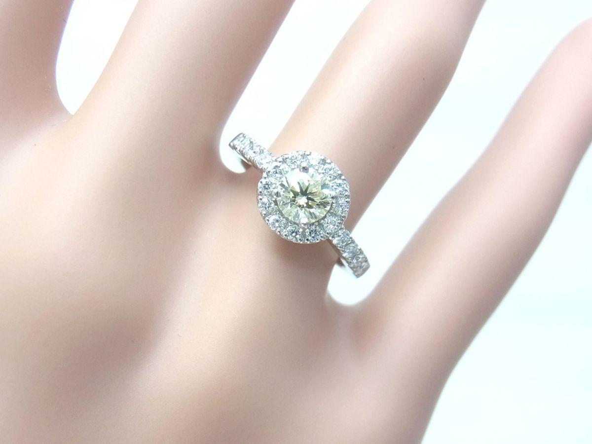 送料込みの即決価格 中央宝石研究所鑑定済 天然ダイヤモンド 0.505ct プラチナ製リング 人気デザイン これは安い 卸価格でご奉仕_画像5