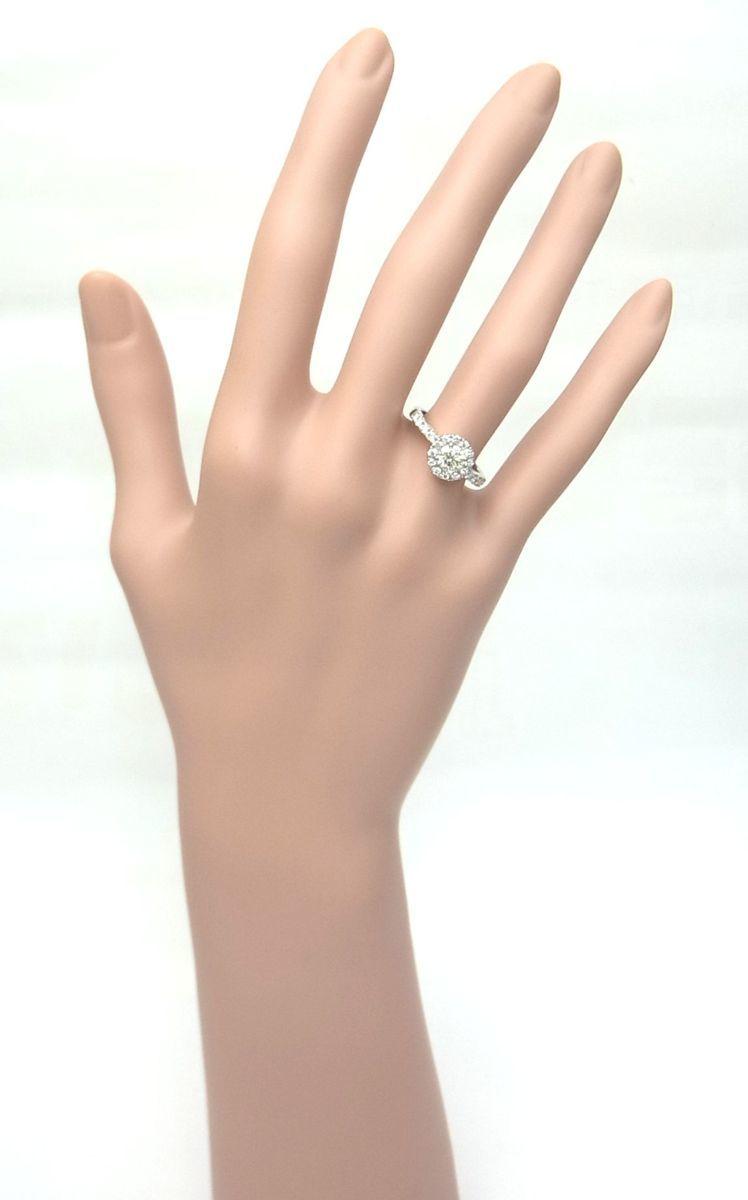 送料込みの即決価格 中央宝石研究所鑑定済 天然ダイヤモンド 0.505ct プラチナ製リング 人気デザイン これは安い 卸価格でご奉仕_画像6