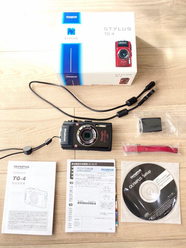 OLYMPUS 防水カメラ TG-4 水中カメラ コンデジ オリンパス デジカメ stylus ブラック 黒 美品