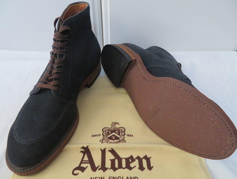 ■新品【オールデン/Alden】×【シップス別注】極上ブーツ インディー スエード ネイビー 9(27.5cm) D #1 モディファイドラスト_画像2
