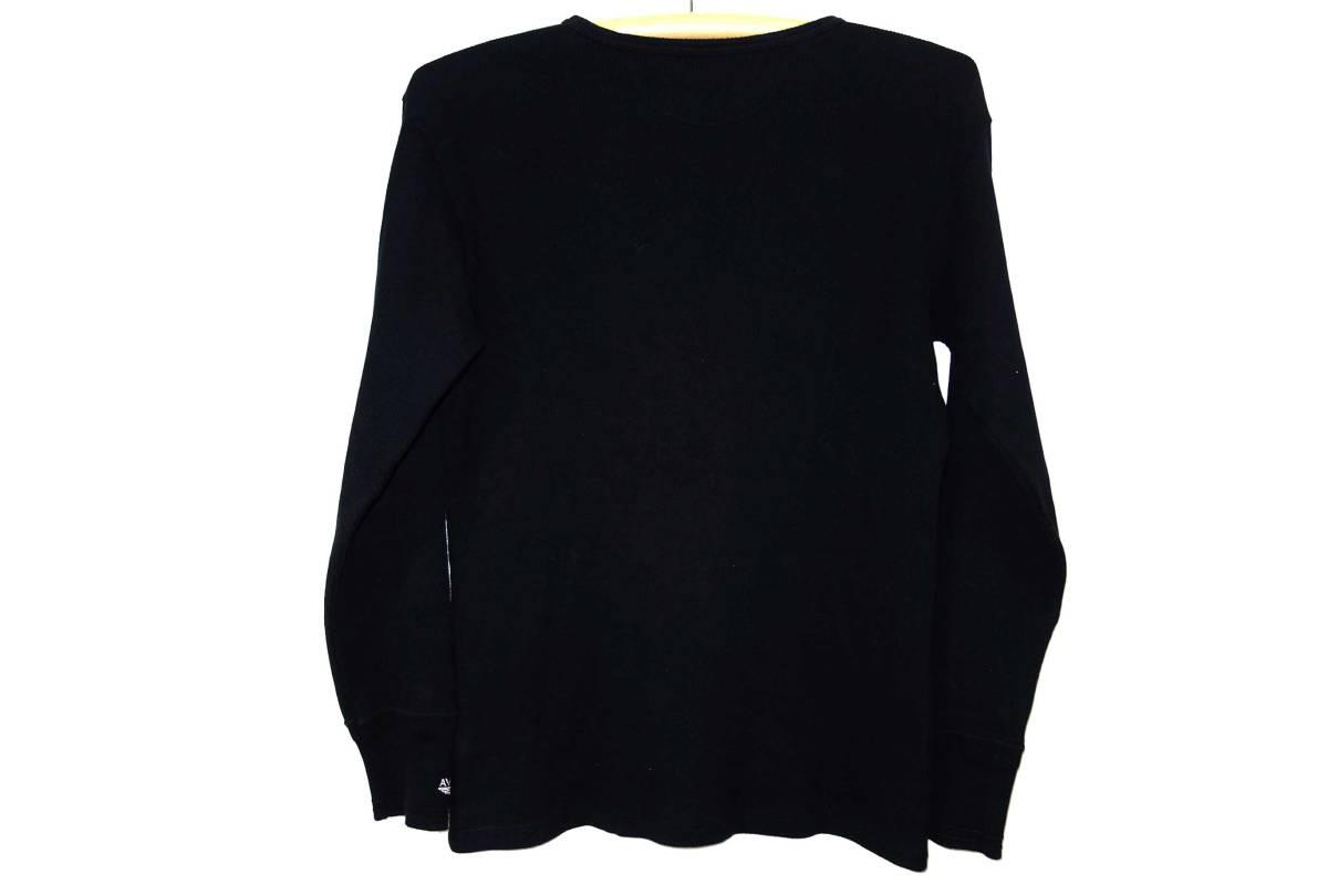 送料520円■正規美品ルイスレザー サーマル長袖TシャツXL黒/買取キング_画像3