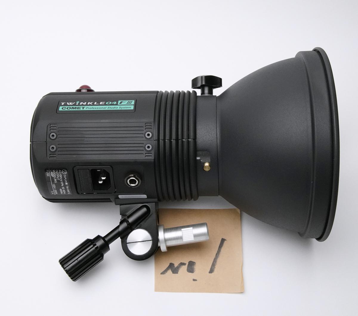COMET コメット TWINKLE 04F III + CX-Cリフレクター テスト発光のみ美品_画像2