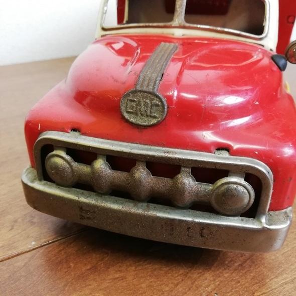 【 当時物 米澤玩具 ヨネザワ 】 日本製 ブリキ GMC トラック フリクション■レトロ ヴィンテージ ビンテージ JAPAN 昭和_画像3