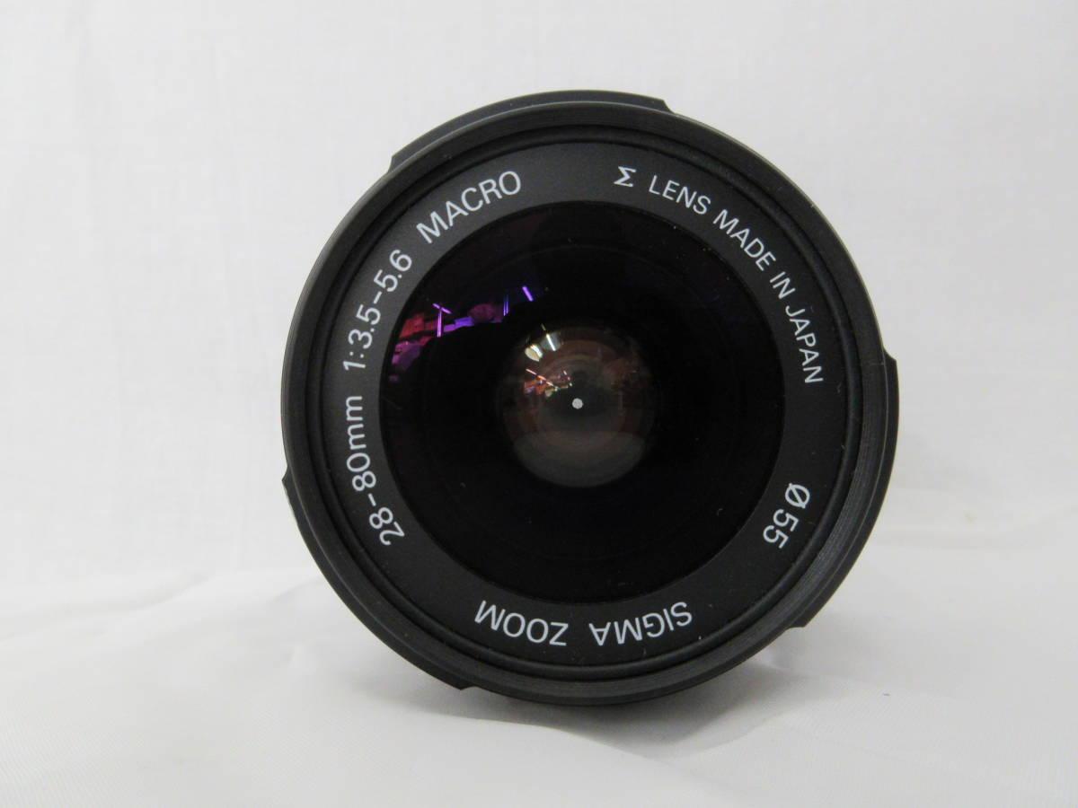 ★Nikon F50 フィルムカメラ/SIGMA ZOOMレンズ 28-80mm 1:3.5-5.6/レンズフィルターkenko 55mm ジャンク扱い_画像9