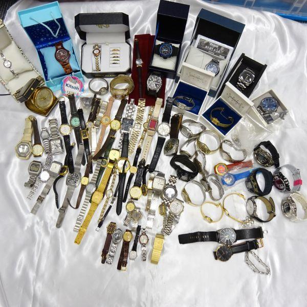 1円~ブランド時計80本以上セットSEIKO CITIZEN RADO オメガ ロンジン ダンヒル ウォルサム カシオ QZ 自動巻 メンズ腕時計大量/個/kg56