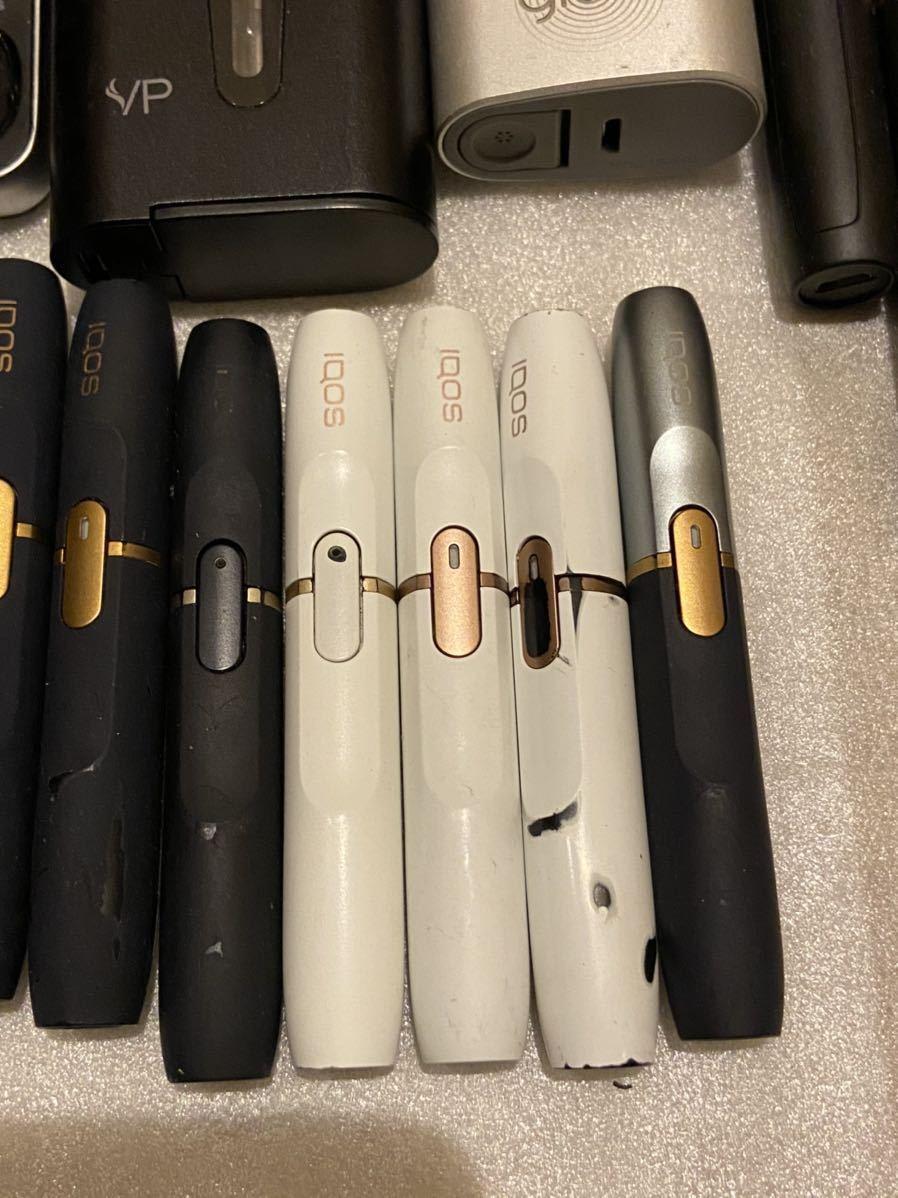 IQOS glo アイコス グロー ploom tech 2.4plus 電子タバコ 喫煙グッズ チャージャー ホルダー 充電器 セット まとめ ジャンク 動作未確認_画像8