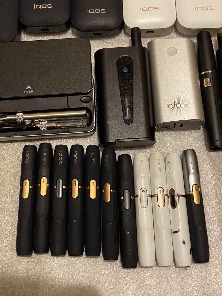 IQOS glo アイコス グロー ploom tech 2.4plus 電子タバコ 喫煙グッズ チャージャー ホルダー 充電器 セット まとめ ジャンク 動作未確認_画像6
