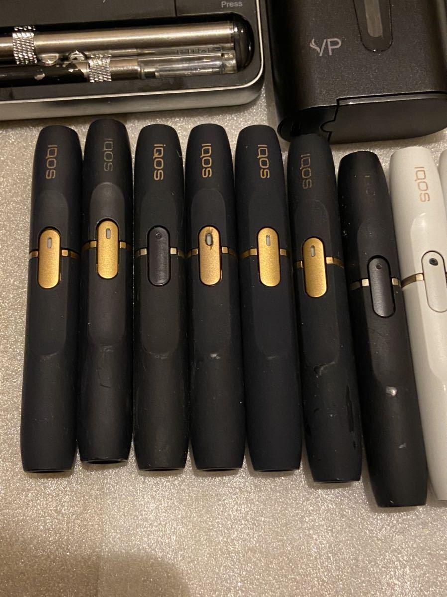 IQOS glo アイコス グロー ploom tech 2.4plus 電子タバコ 喫煙グッズ チャージャー ホルダー 充電器 セット まとめ ジャンク 動作未確認_画像7