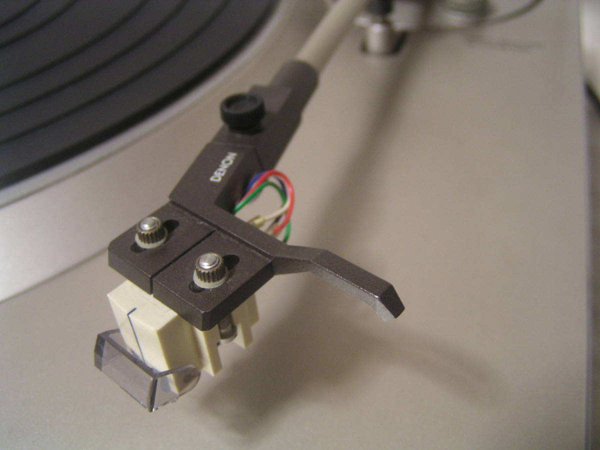 デノン DENON DP-32F ターンテーブル レコードプレーヤー (修理 ジャンク品) _画像7