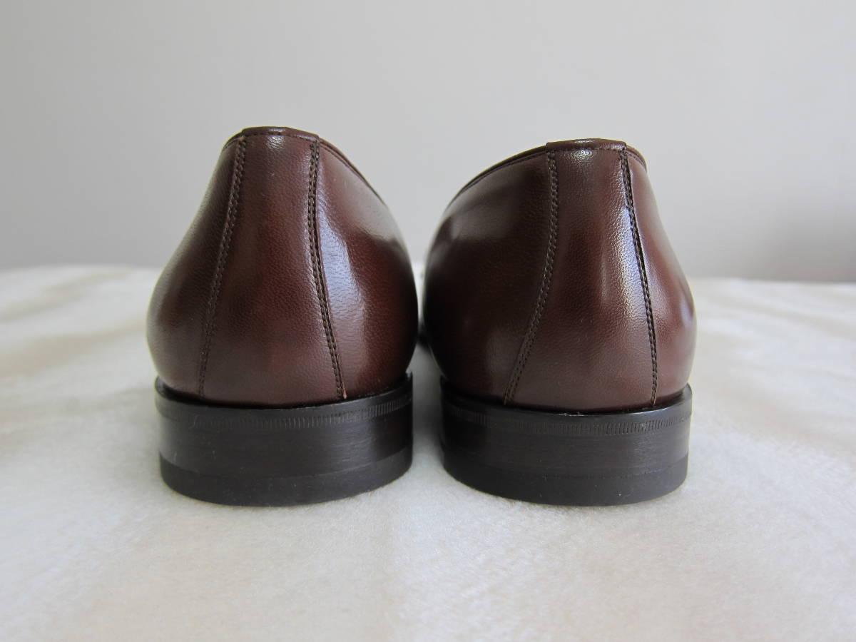 GUCCI グッチ イタリー製 未使用 メンズ ブラウン ローファー サイズ 42E (26cm見当)