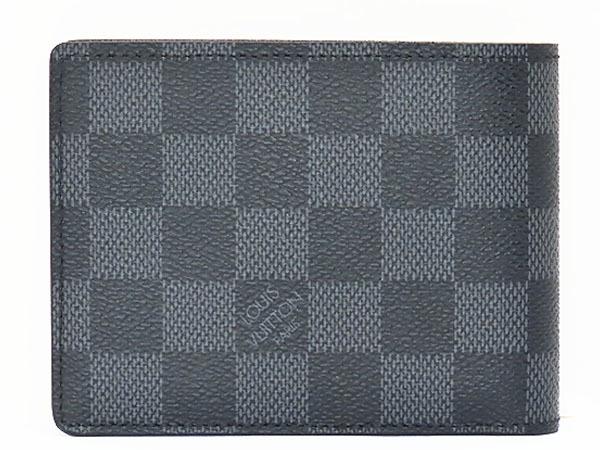 超美品 ルイヴィトン ダミエグラフィット ポルトフォイユ ミュルティプル 二つ折り札入れ財布 コンパクト財布 N62663_画像2