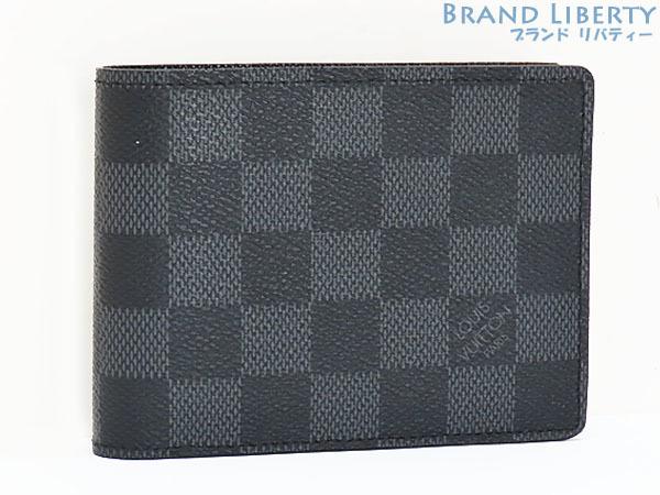 超美品 ルイヴィトン ダミエグラフィット ポルトフォイユ ミュルティプル 二つ折り札入れ財布 コンパクト財布 N62663_画像1